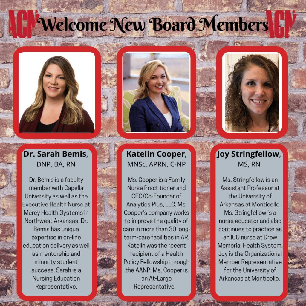Welcome New Board Members2021